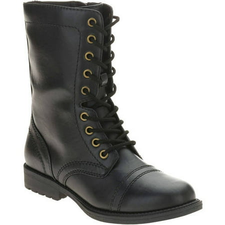 Faded Glory Women's Combat Boot - Walmart.com