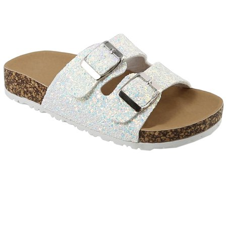 Kids Girl Open Toe Buckle 2 Strap Thong Slide Sandals (FREE SHIPPING)