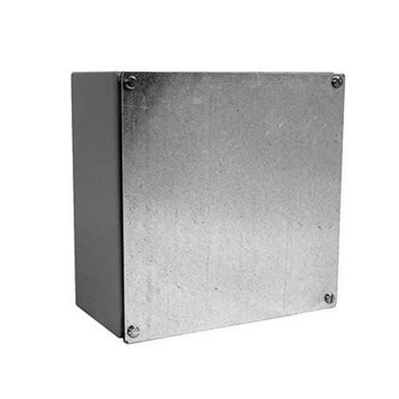 Milbank 10106-WSC2 NEMA 1/3/12 Polyester Powder Coated Galvanized Over Phosphatized Steel Gasketed Screw Cover Junction Box 10 Inch x 10 Inch x 6 Inch ANSI 61 Gray CNSP