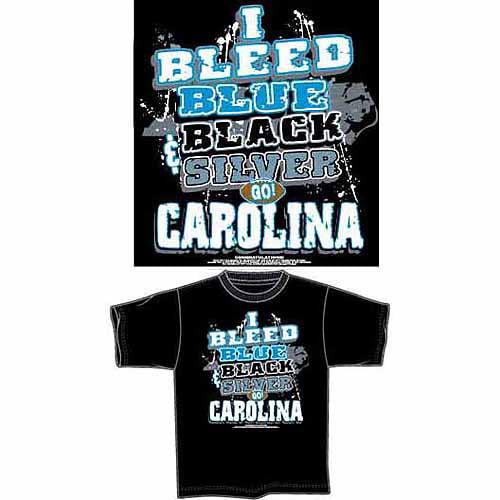 "Carolina Football ""I Bleed Blue, Black and Silver, Go Carolina"" T-Shirt, Black"