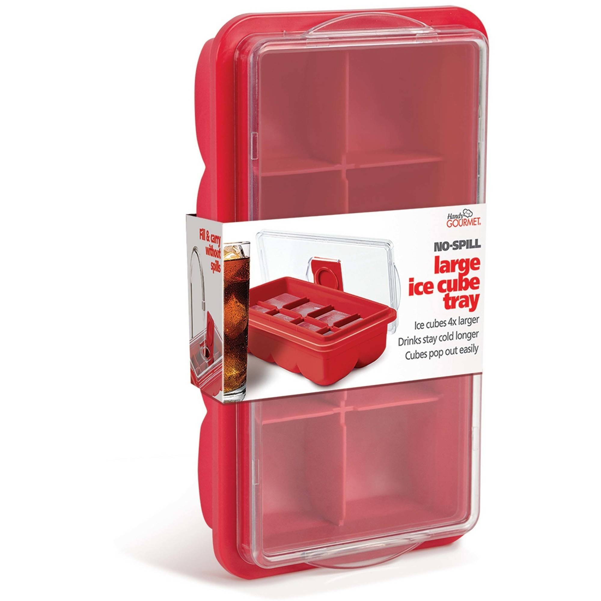 Handy Gourmet No-Spill Extra Large Ice Cube Tray with Cover