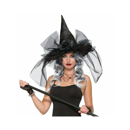 Halloween Witch & Wizard Deluxe Witch Hat - Half Witch Halloween Makeup