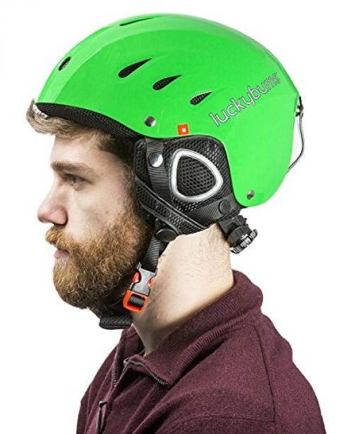 Snow Sports Helmet, Green, Large (59-60 cm) by