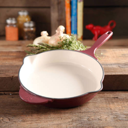 "The Pioneer Woman Timeless Cast Iron, 10"" Cast Iron Enamel Skillet"