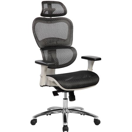 Mesh High Back Executive Chair - Techni Mobili Deluxe High Back Ergonomic Mesh Executive Office Chair with Neck Support, Black