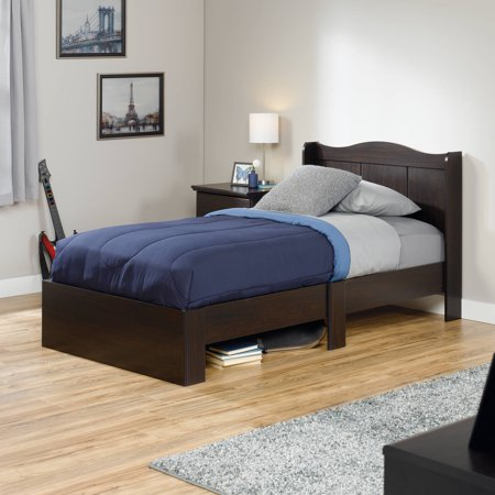 Sauder Storybook Mates Twin Wood Bed  Jamocha Wood Finish   Walmart com. Sauder Storybook Mates Twin Wood Bed  Jamocha Wood Finish