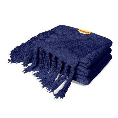 Dozzz Luxury Decorative Chenille Throw Blanket For Couch Throws Sofa Cover Soft Bedding Light Weight With Fringe 60 X 50 Inch 600 Gram