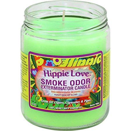 Smoke Odor Exterminator Candle 13oz Jar Candle, Hippie Love Odor Exterminator Candle