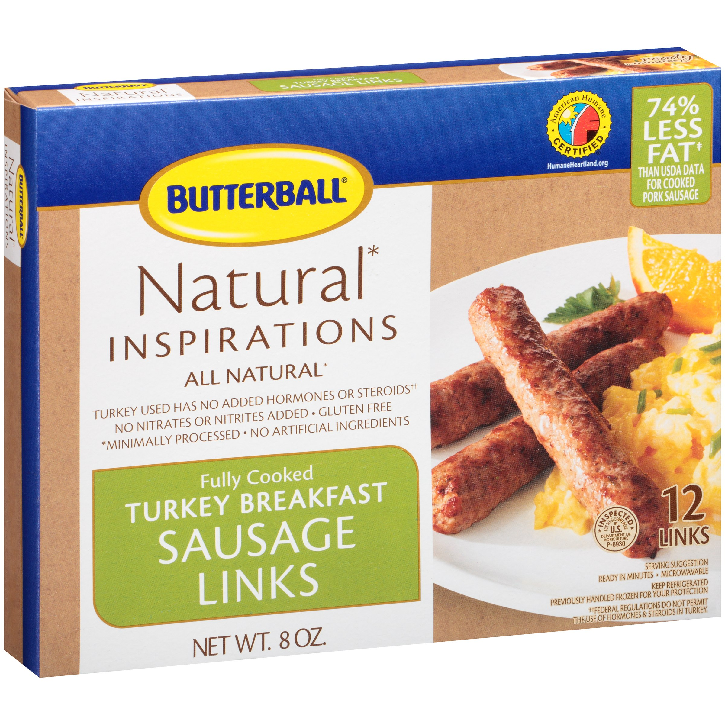 Butterball® Natural Inspirations Turkey Breakfast Sausage Links 8 oz. Box