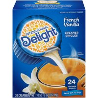 (4 Pack) International Delight French Vanilla Creamers, 24 Ct
