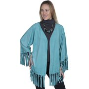 Scully Western Scarf Womens Honey Creek Knotted Fringe M Turq HC261