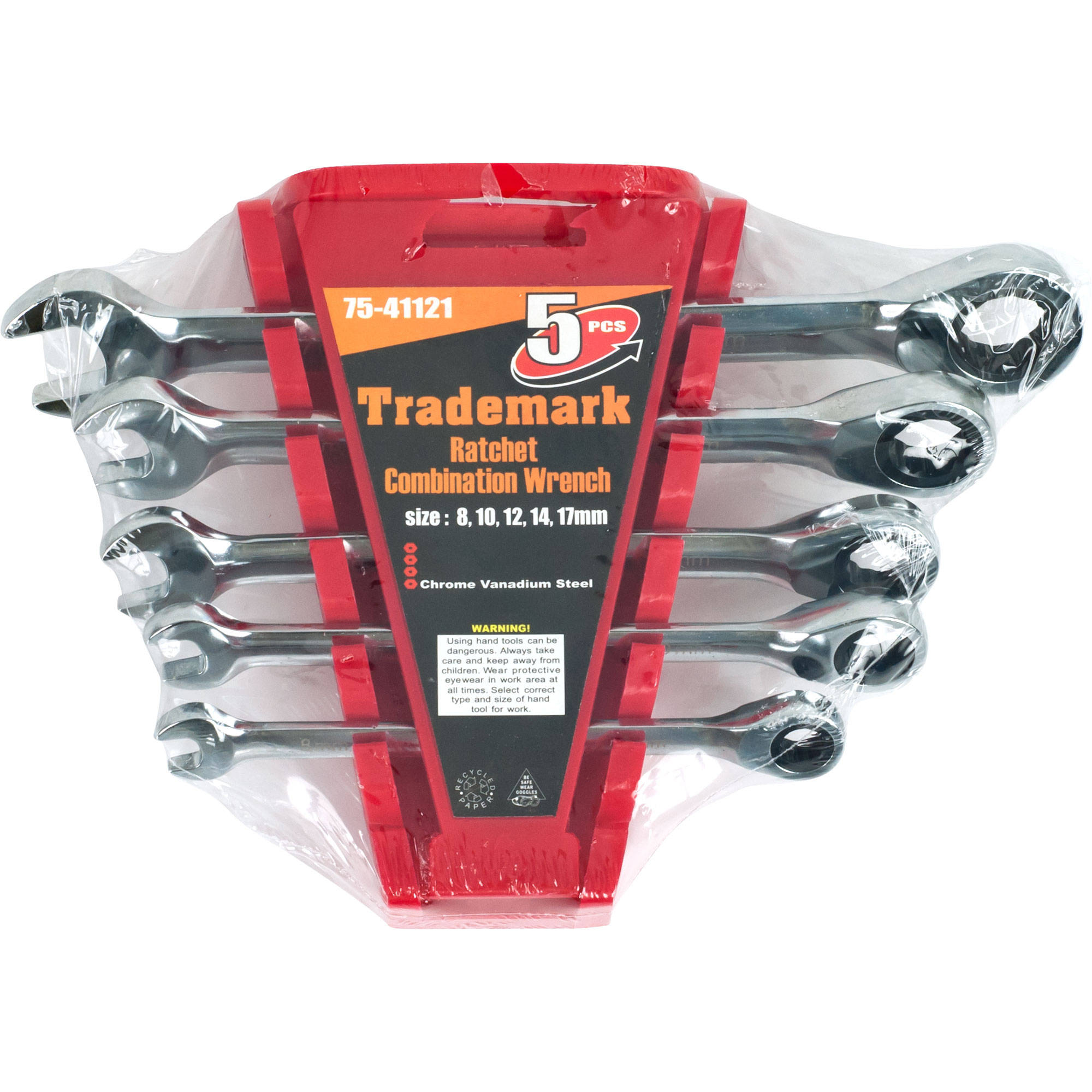 Stalwart Set Of 5 Ratchet Combination Wrenches Metric