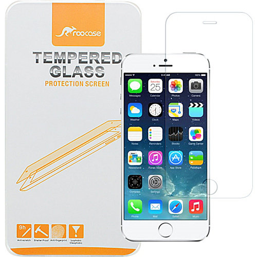 """rooCASE Premium Real Tempered Glass Screen Protector Guard for iPhone 6/6s - 4.7"""""""