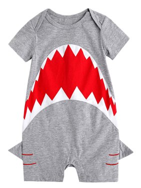 a0c41a3fe84c Product Image stylesilove Baby Boy Shark Print Short Sleeves Cotton Romper  (70 6-12 Months