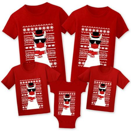 Christmas Shirts for Family - Llama in Mask - Christmas Tshirt for Matching Women Men Kid Toddler Baby - Christmas Llama