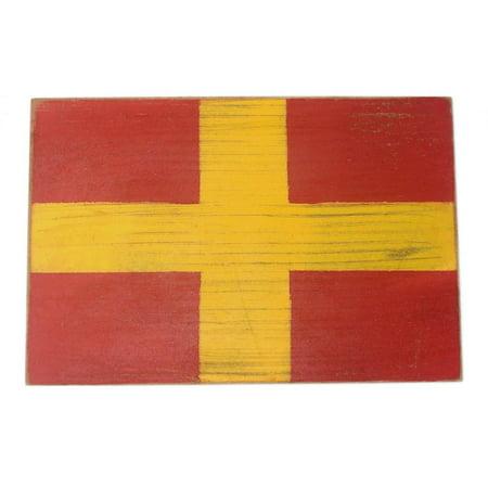 Letter R Wooden Nautical Alphabet Flag Decoration 16\
