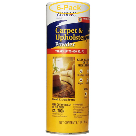 Zodiac Flea Control Carpet & Upholstery Powder 16 oz - Pack of