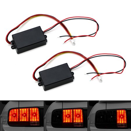 iJDMTOY (2) Universal 3-Step Sequential Chase Flash Module Boxes For Car Front or Rear Turn Signal Light Retrofit - Rear Signal Light