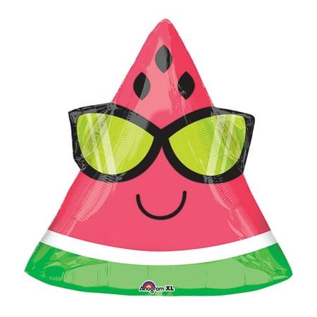 18-Inch Fun In The Sun Watermelon Shaped Balloon - Sun Balloon