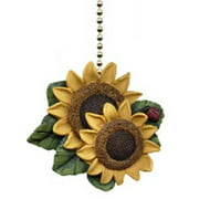 Sunflower Ladybug Floral Kitchen Ceiling Fan or Light Pull