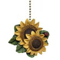 Sunflower Ladybug Floral Kitchen Ceiling Fan or Light Pull