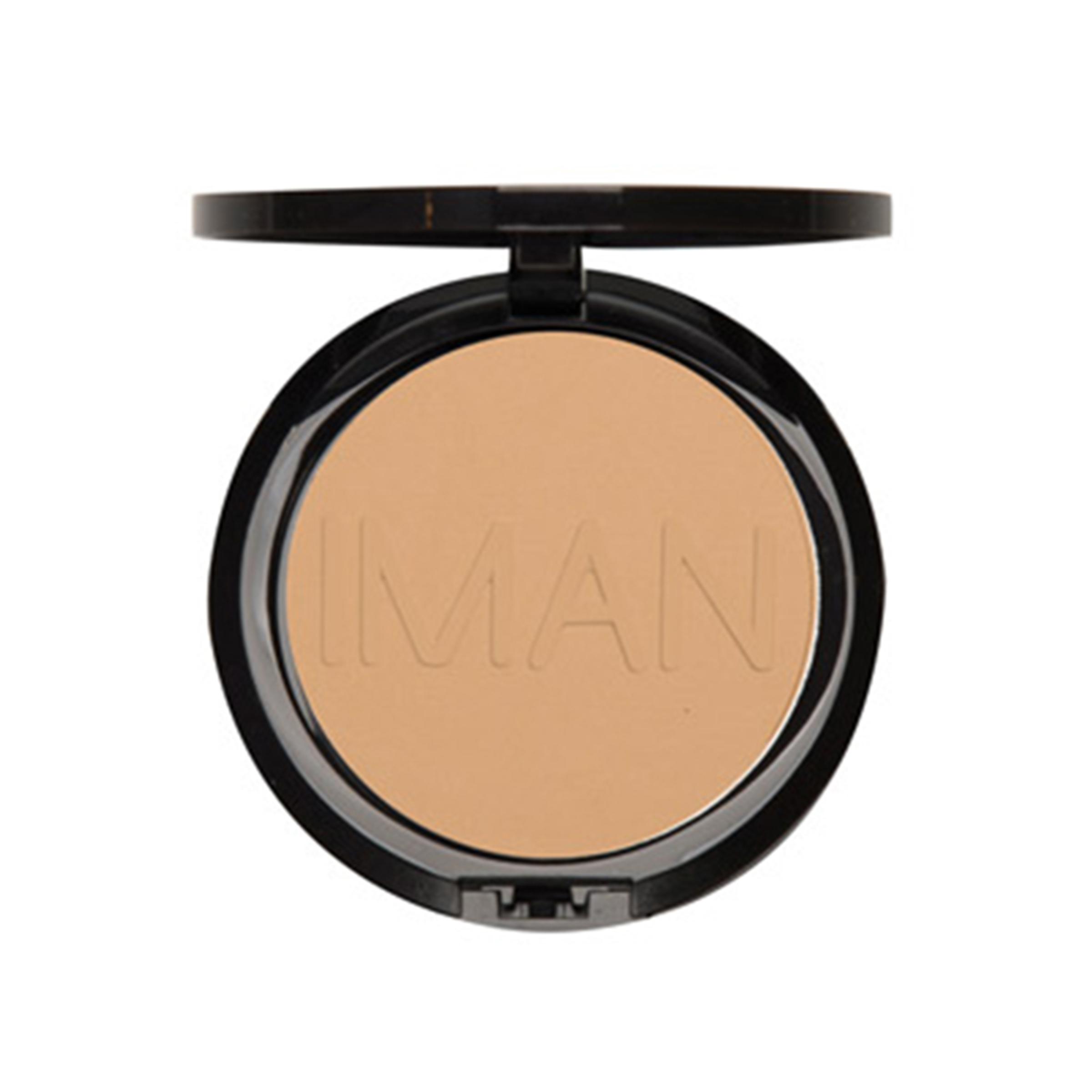 IMAN Luxury Pressed Powder, Clay Medium/Dark