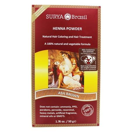 Surya Brasil - Henna Powder Natural Hair Coloring Ash Brown - 1.76 oz.