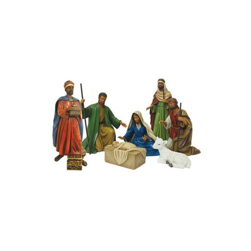 Image of African American Expressions Nativity 7 Piece Nativity Set