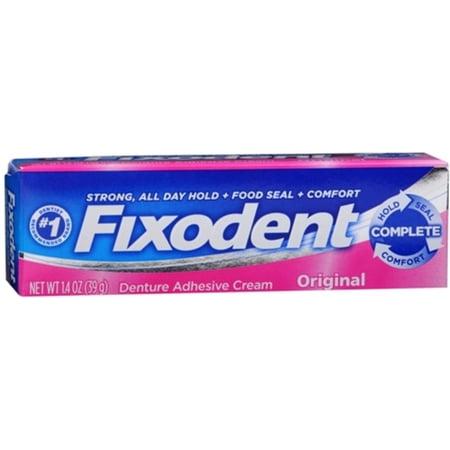 Fixodent Original Cream (Fixodent Denture Adhesive Cream Original 1.40 oz (Pack of 3) )