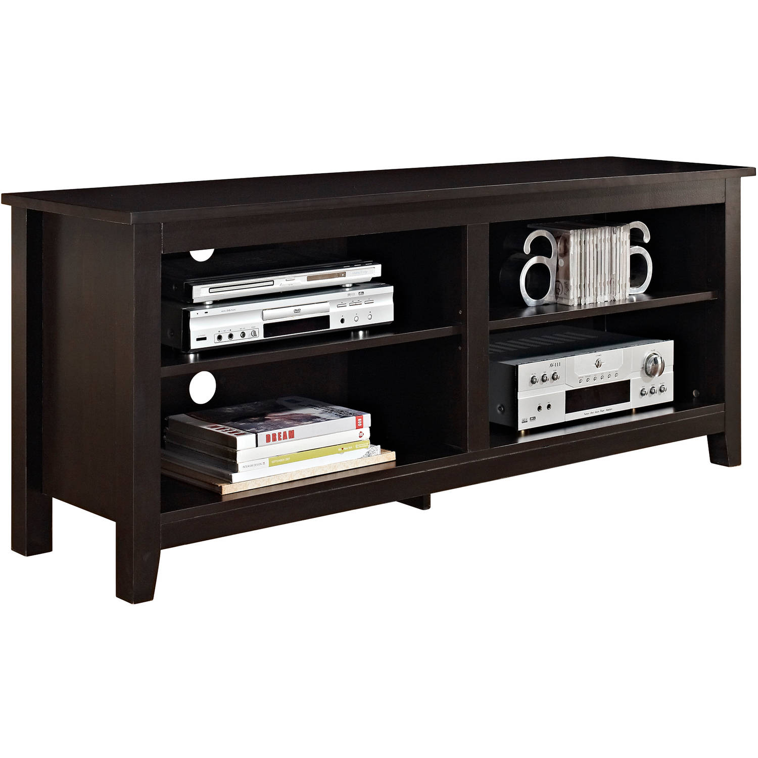 Tv Stand Up To 60 Home Media Console Furniture Storage Shelves