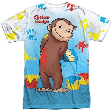 Curious George Adult Shirt (Curious George Books Cartoon Movie TV Messy Monkey Adult Front Print)