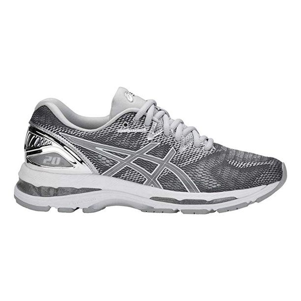 ASICS Women's Gel-Nimbus 20 Platinum, Carbon/Silver/White, 9.5 B(M) US