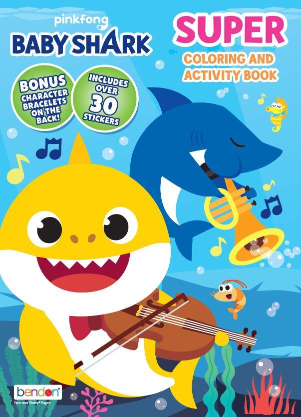 Bendon Publishing Baby Shark Super Coloring Book - Walmart ...