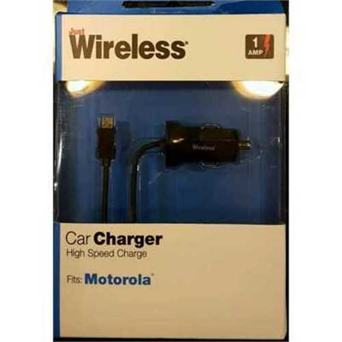 Just Wireless Car Charger High Speed Charge 1 Amp Cell Phone Charger For Motorola
