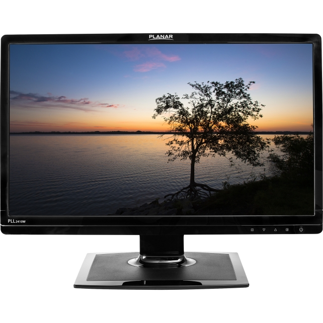 "Planar PLL2410W 24"" Edge LED LCD Monitor - 16:9 - 5 ms - Adjustable Display Angle - 1920 x 1080 - 16.7 Million Colors - 300 Nit - 1,000:1 - Full HD - DVI - VGA - 35 W - Black - RoHS"