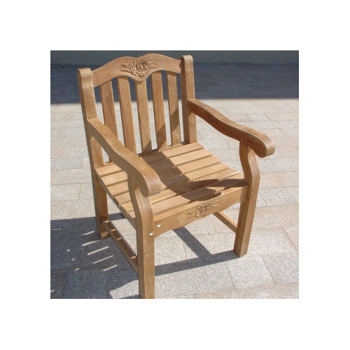 Royal Teak by Lanza Products Teakwood Biar Rose Dining Arm Chair