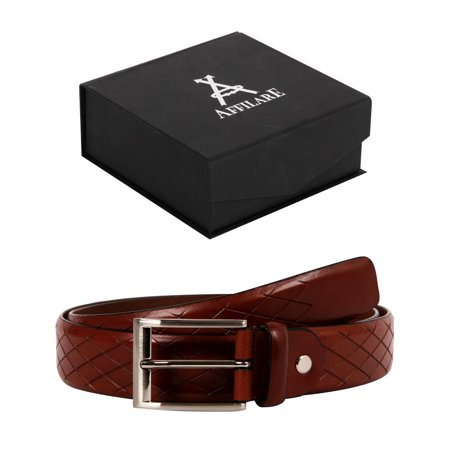 Affilare Men's Genuine Italian Leather Dress Belt  35mm Black Brown Tan 12CFTD13