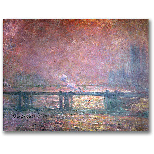 "Trademark Fine Art ""The Thames at Charing Cross"" Canvas Wall Art by Claude Monet"