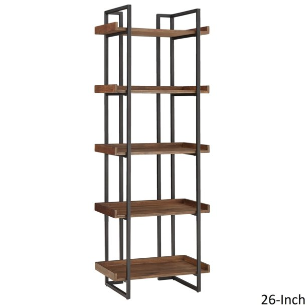 iNSPIRE Q Corey Rustic Brown Etagere Bookcases by Modern - Walmart