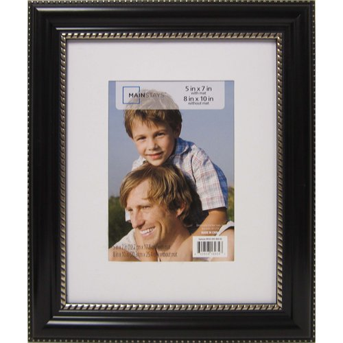 Mainstays HCE Samson 8x10 Frame Matted to 5x7, Black