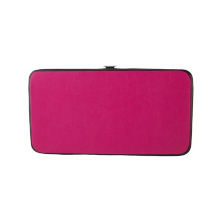 Women's Solid Color Hinged Card Case Wallet