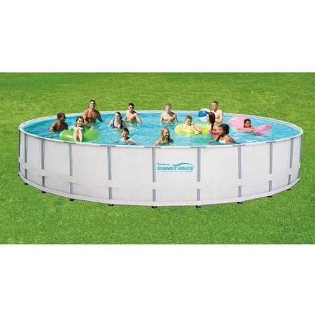 Summer Waves Elite 26 39 Round Metal Frame Above Ground Swimming Pool