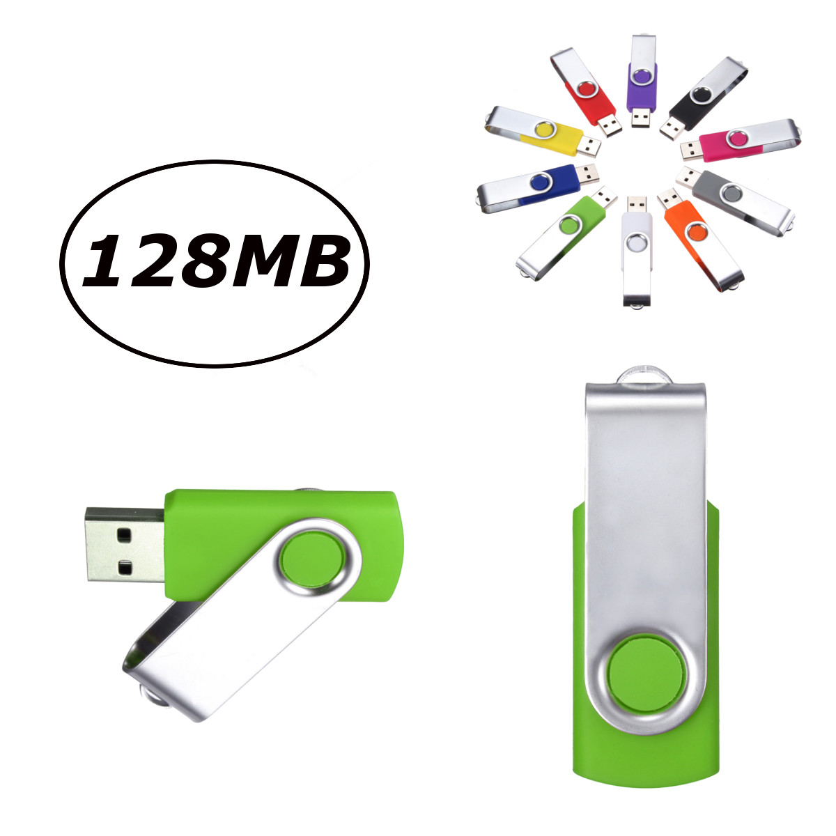 Foldable 128MB USB 2.0 Flash Memory Stick Pen Drive Storage Thumb USB 2.0 & USB 1.1 U Disk 15MB/sec & Write: 6 MB/sec