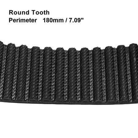 Unique Bargains HTD5M 36 Teeth Stepper Timing Belt Rubber Geared-Belt 180mm Perimeter 20mm Width - image 1 of 2