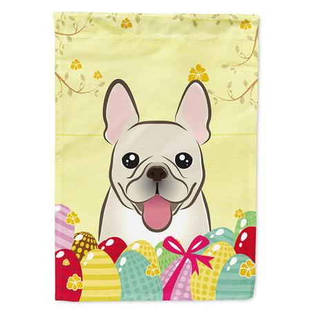 French Bulldog Easter Egg Hunt Garden Flag - 1920 Decorations