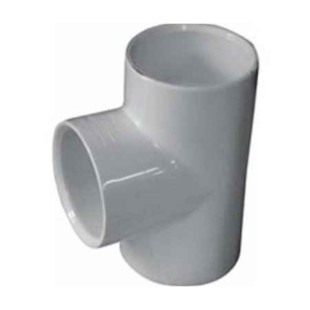 Spears 401 Molded Solvent Weld Pipe Tee, 3/4 Inch, Socket, SCH 40, PVC, 0.113 Inch T, 3-1/8 Inch L, White,10PK
