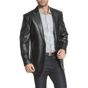 BGSD Men's Judd 1-Button Lambskin Leather Blazer (Regular & Tall)