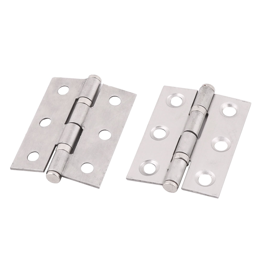 "2"" Length Home School Stainless Steel Cupboard Cabinet Gate Door Hinges 2pcs - image 4 de 4"