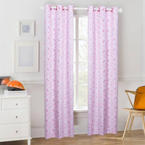 Mainstays Pink Princess Crown Room Darkening Window Curtain Panel
