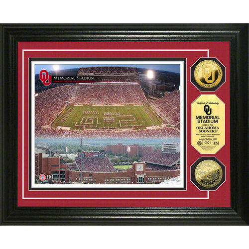NCAA Highland Mint, 24KT Gold Coin Photomint, University of Oklahoma, Memorial Stadium